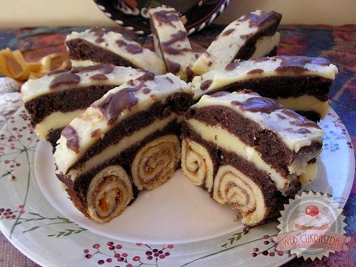BICIKLI SÜTEMÉNY • Nincs is rá szó, milyen gyönyörű sütemény, sőt, a krémmel töltött dupla teteje még inkább mutatósabbá teszi! - MindenegybenBlog