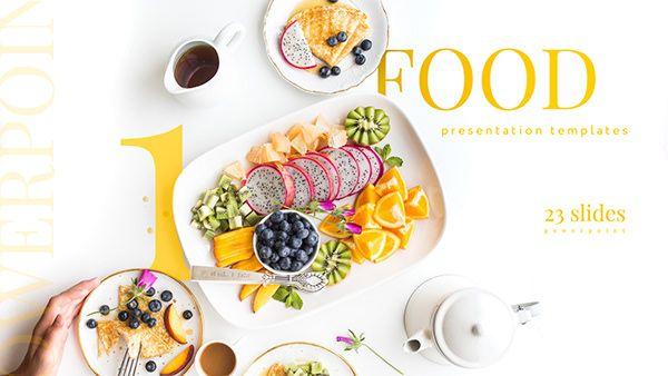 Food 1 Presentation Templates Powerpoint Keynote On Behance Food Presentation Presentation Templates Presentation Design Template