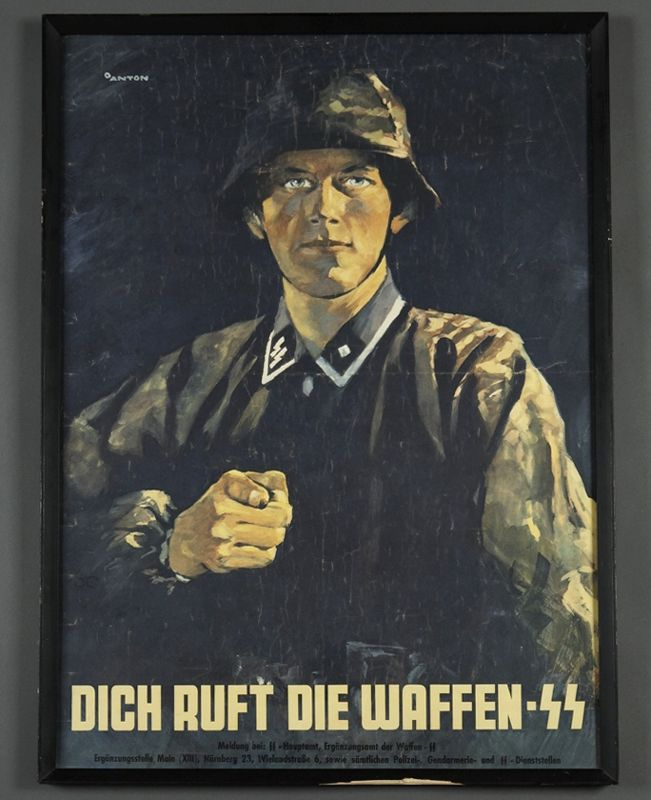 Recruitment poster. (During the Nuremberg Trials, the Waffen-SS was declared a criminal organization. Conscripts from 1943 onward, were exempted from that judgement as they had been forced to join.)Propaganda Posters, Vintage Propaganda, Nazi Propaganda, Ii World Wars, Wars Posters, Propoganda Posters, Propaganda Wars Art, Posters Coverse Art, Ii Propaganda
