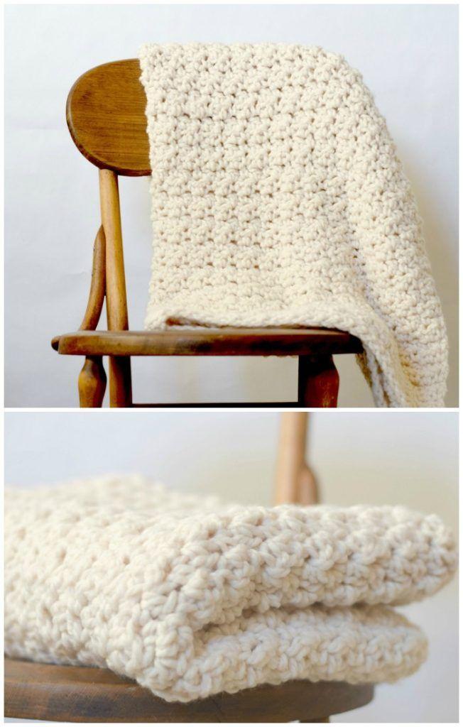 55 Crochet Blanket Patterns - Free Patterns   Cosas que ponerse ...