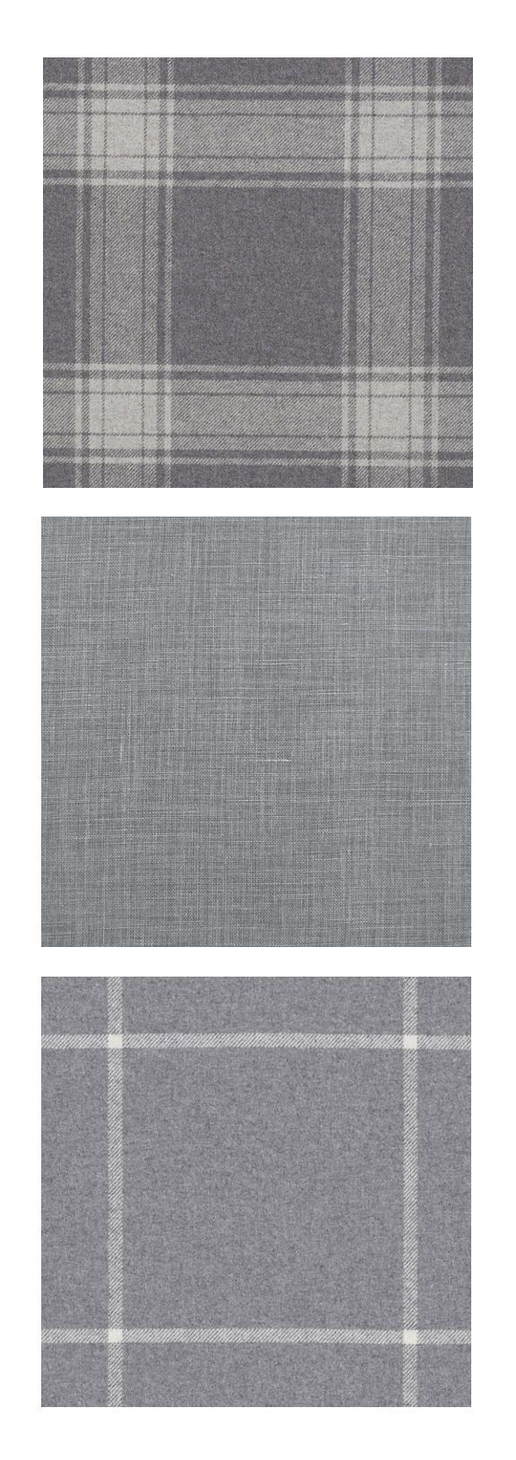 Exquisite silks, understated wools and washed linens, all in shades of sophisticated grey. Grey Book Fabric Collection from Ralph Lauren Home.