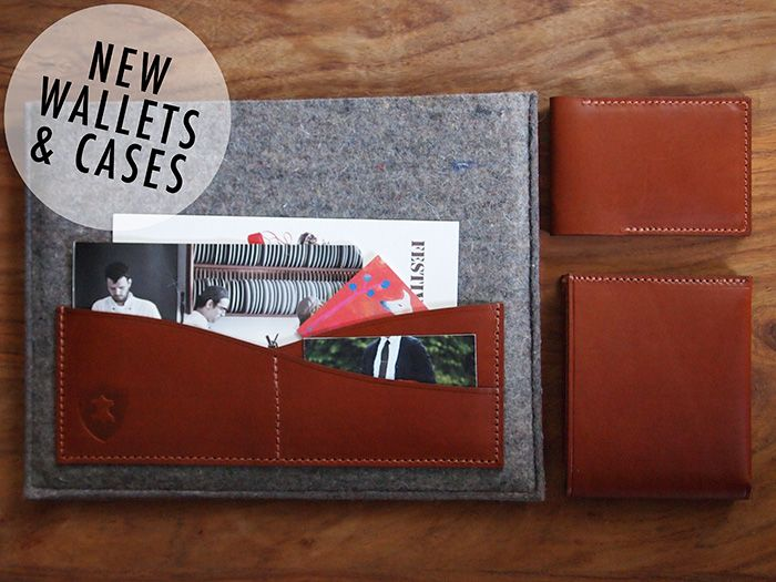 New Holdall & Co Slipcases, Billfold Wallets & Cardfold Cases