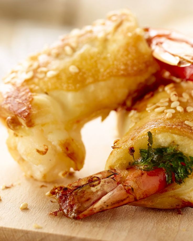 Scampi in bladerdeeg