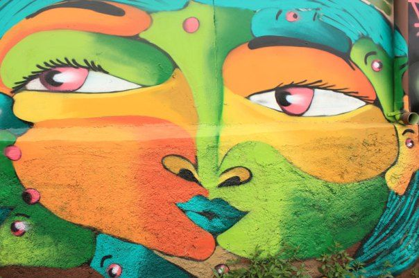 #Impulseearth #Valparaiso #Chile #Graffiti #Street Art #Face #Painting #Creativity #Green #Yellow #Eyes