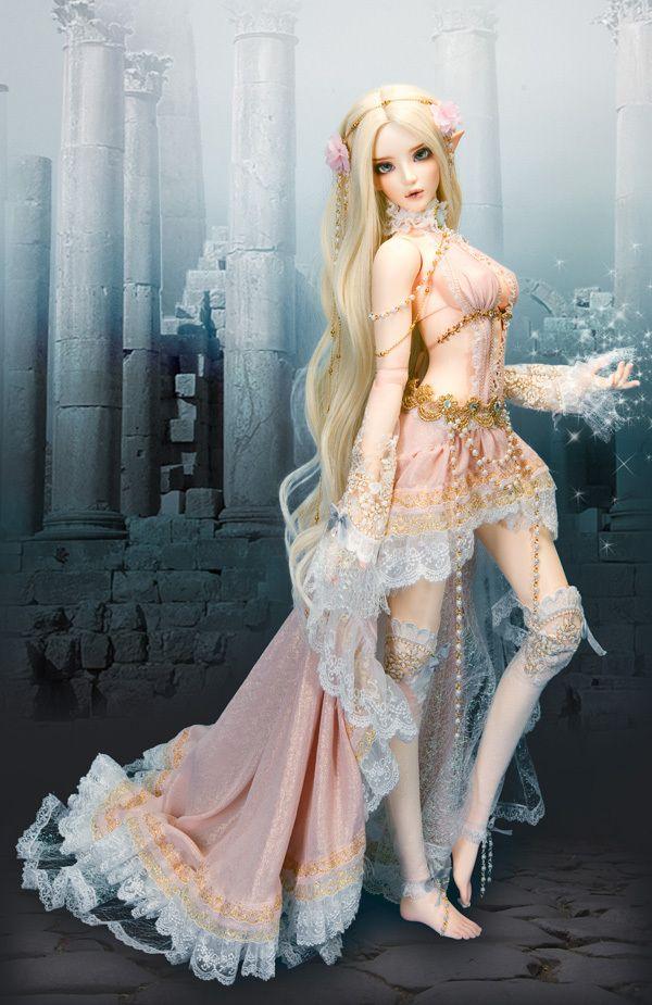 FeePle65 Chloe di Elf (Moon Light) bambola BJD / sd soom bambola FL DeSoutter Corea Eye (Presentata occhi e trucco)