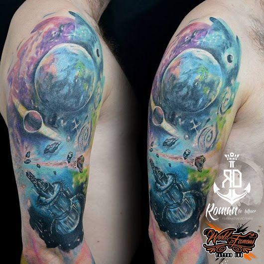 Tetování - Universum tattoo (cover-up)