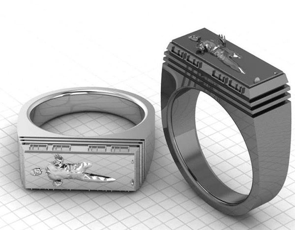 Han Solo in Carbonite ring