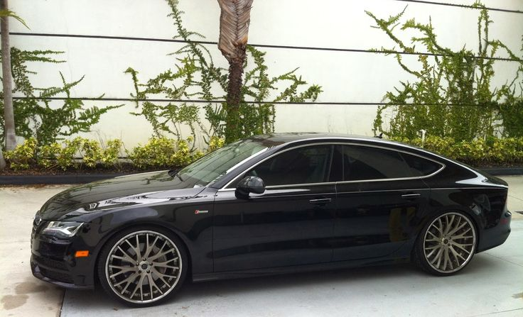Audi A7 with Savani rims | Exotic Cars on the Streets of Miami