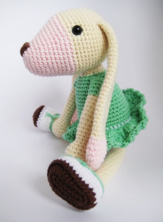Long-eared Dog Crochet Toy PATTERN by mojeamigurumi on Etsy