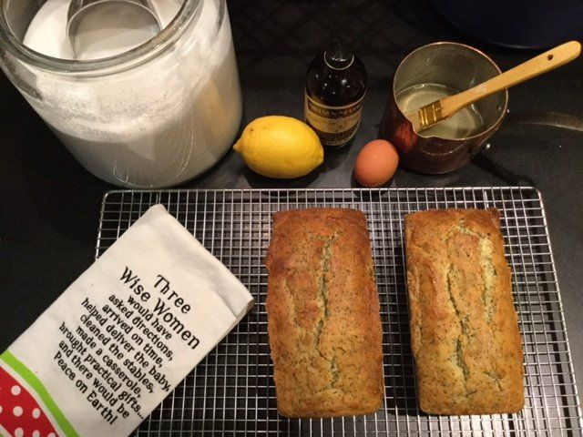 I have been making this Gourmet Magazine recipe since 1990. Every Christmas morning, we enjoy this lemon bread while we open gifts. It is also a lovely hostess gift at the Holidays!