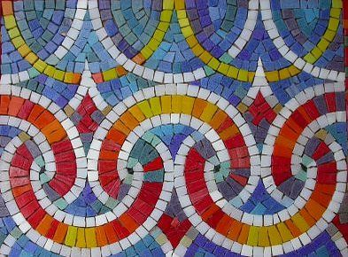 color mosaic- I love the colours and the pattern, really eye catching!