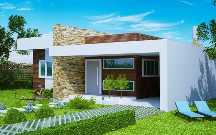 "Casa "" Fortaleza"" - fachada moderna com 3 quartos e suíte - Plantas de Casas"