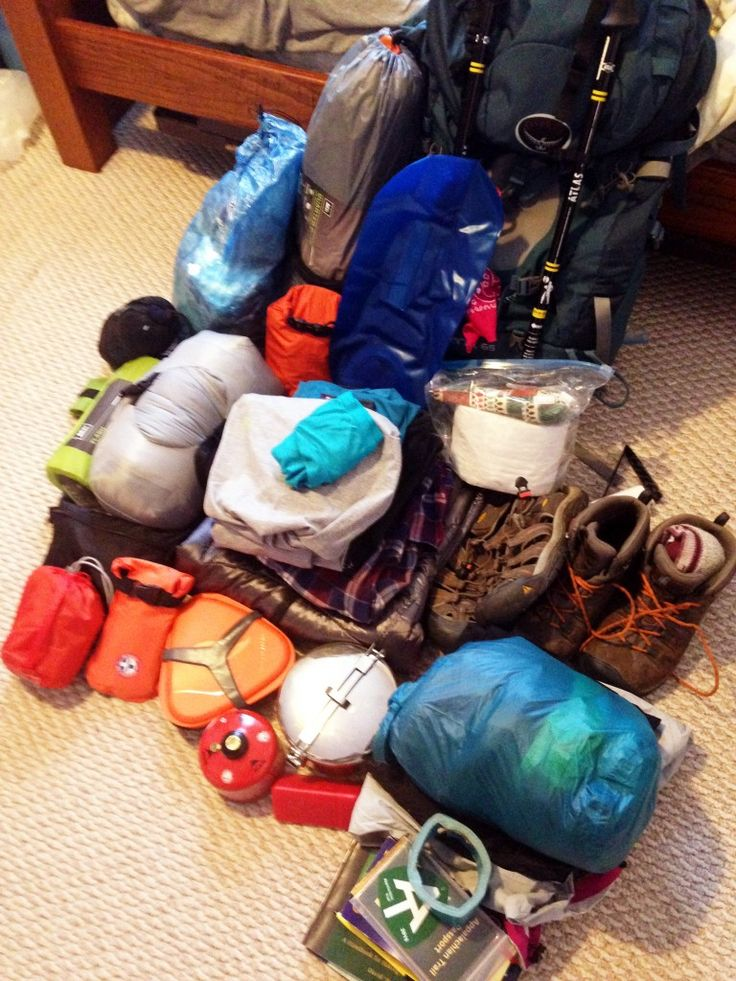 My Appalachian Trail Gear List