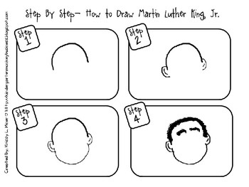 Free Martin Luther King Directed Drawing Kindergarten Kolleagues