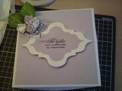 Wedding - purple - box for card
