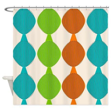Mid Century Modern Shower Curtains