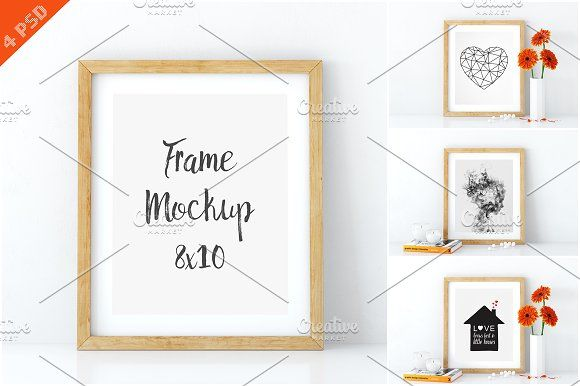Frame mockups in white 8x10 by Yuri-U on @creativemarket
