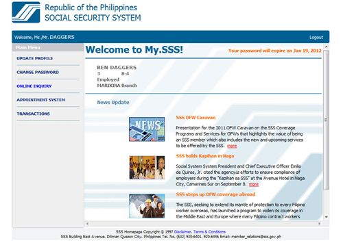 Sss System Contribution Online Inquiry