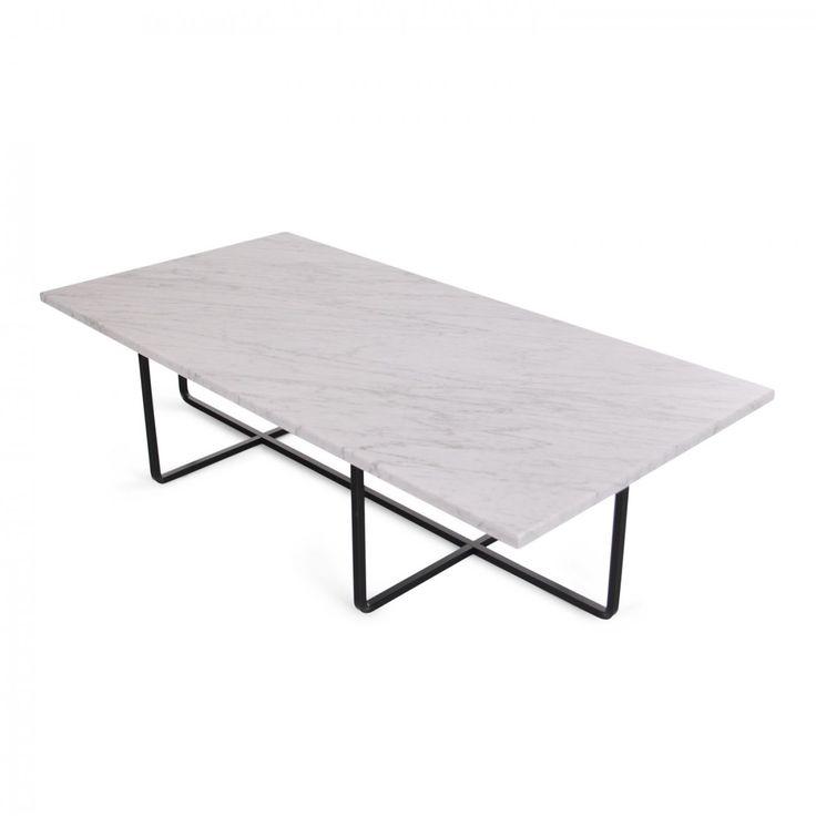 Ninety Table, soffbord formgivet av Dennis Marquart för OX Denmarq. Bordsskiva av marmor och underrede av mässing, rostfritt stål alternativt pulverlackerat rostfritt stål.Bordet kommer i tre olika storlekar, 60x60 cm, 80x80 cm samt 120x60 cm. Observera: Marmor är ett mjukt stenmaterial och skivan kräver därför varsam hantering vid montering av stommen. Marmor tolererar inte inte heller någon form av syror. Polerade ytor behandlas bäst med syrafritt vax eller natursåpa. Använd erinteav…