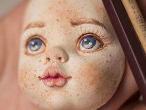Мастер-класс: роспись кукольного лица | Ярмарка Мастеров - ручная работа, handmade