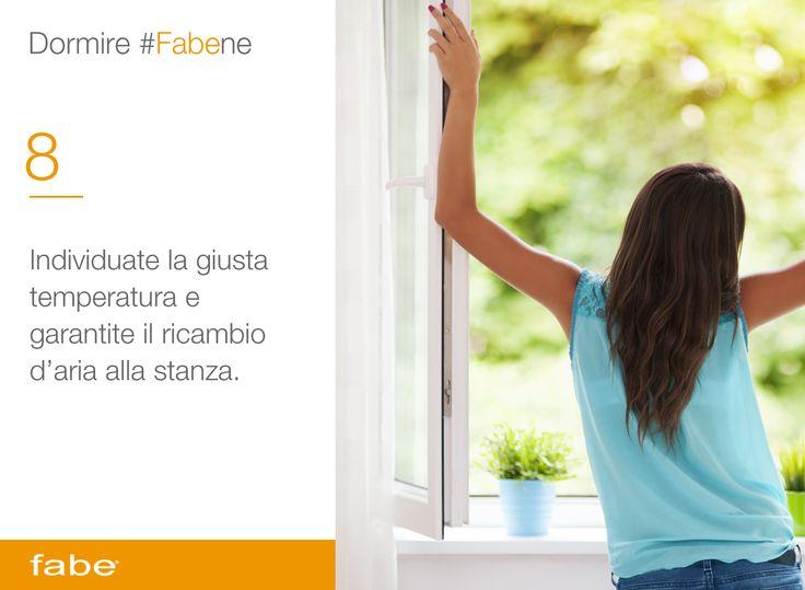 Individuate la giusta temperatura e garantite il ricambio d'aria alla stanza #dormire #bene #dormire #fa #bene #consigli #fabe