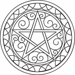 witch mandala coloring pages - photo#27