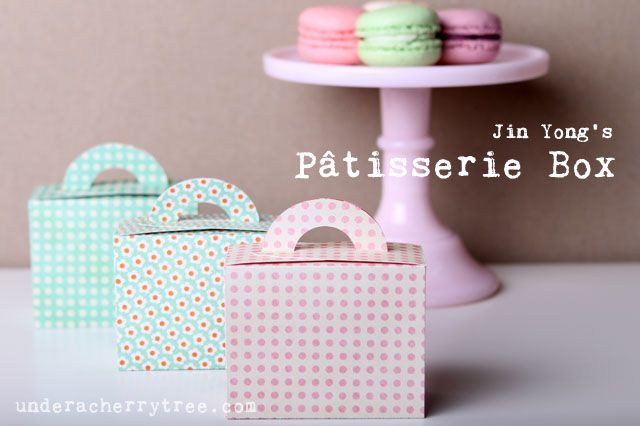 Pâtisserie Box {free download} by Jin Yong from Under A Cherry Tree no glue required