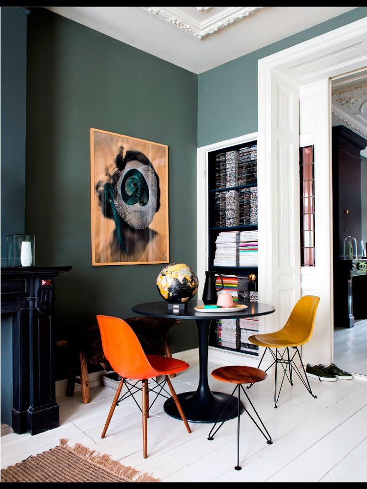 Orange | Teal | Tonal | Tulip Table | Gold | Dining Nook Https:/ Part 46