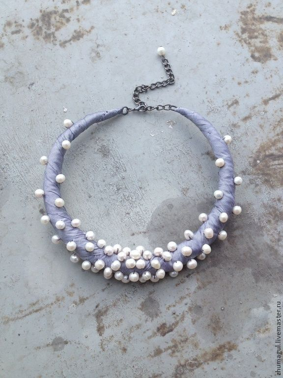 Silk + pearls necklace
