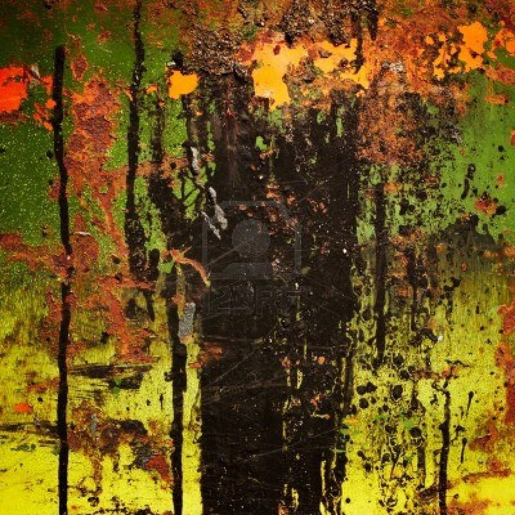 Gekleurd kleurrijke roestig metaal. Grunge achtergrond. Stockfoto