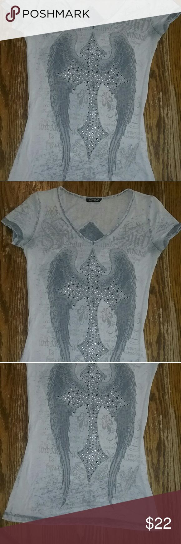 adb12e6a1c Absolutely beautiful cross t-shirt This is a rue 21 shirt it was purchased  there