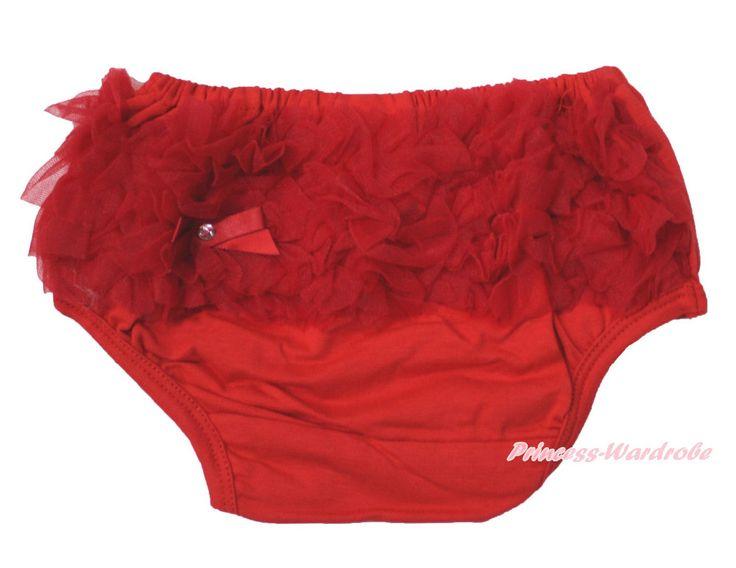 Рождество детские ребенка малыша красный с оборками промах трусики краткая для юбка 6m-3Y MADRE0010