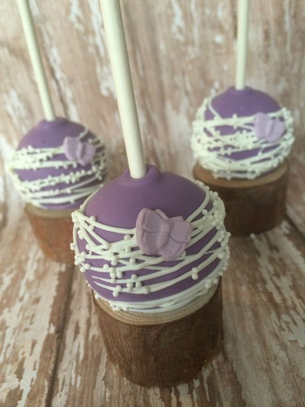 Purple Butterfly Cake Pops Birthday Party Favors Sweets Table Candy Buffet Chocolate Wedding Favors Baby Bridal Shower - 12 Pcs (1 Dozen) by Sparkling Sweets Boutique on Gourmly