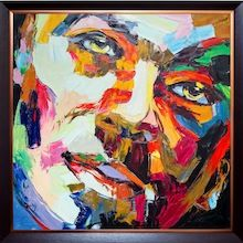 Gabriel - Oil on Canvas. Visit our online showroom for this and other items