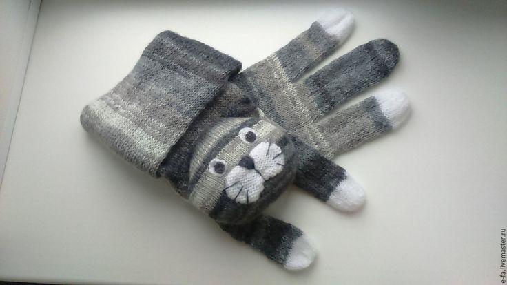 Купить Котошарф / Cat scarf - котошарф, шарф спицами, шарф детский, шарф женский
