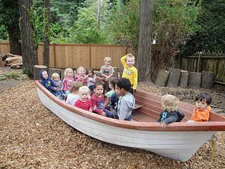 We love boats! If you do not have access to a real one get hold of a large cardboard box and get creative!