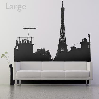 Créez une nouvelle ouverture dans votre intérieur grâce à ce sticker et profitez d'une agréable vue sur les plus beaux toits parisiens.