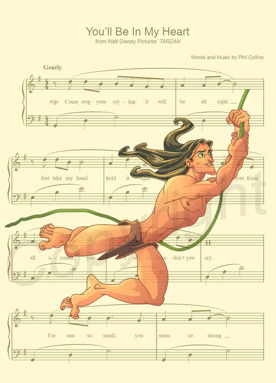 Tarzan You'll Be in My Heart Art Print by AmourPrints on Etsy