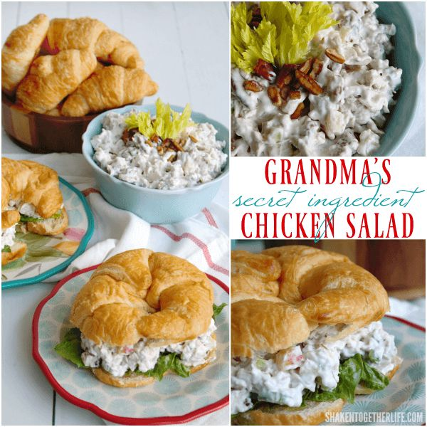 Everyone RAVES about my Grandma's Secret Ingredient Chicken Salad recipe!