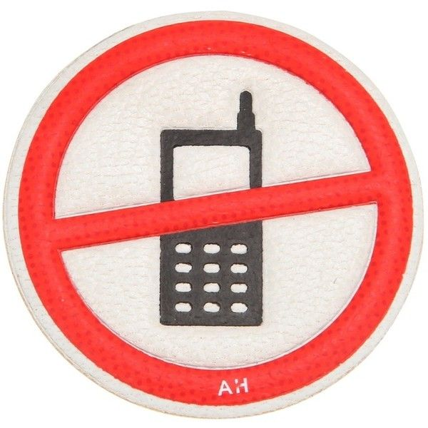 Anya Hindmarch No Mobile Leather Sticker (9205 ALL) ❤ liked on Polyvore featuring home, home decor, office accessories, fillers, jewelry, red, leather office accessories, leather sticker, anya hindmarch and anya hindmarch stickers