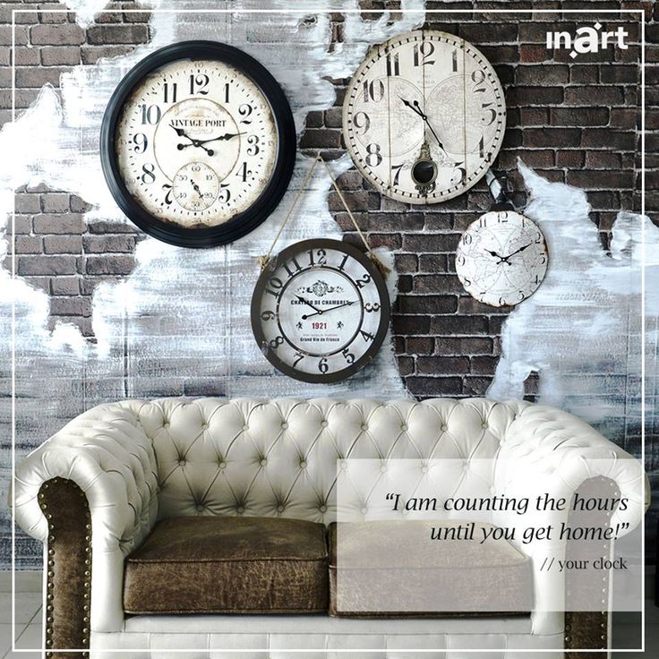 What would your clock say if it could speak? Guess! #inartVoice #inart #FurnitureDesign #HomeDecor #Decoration #Clocks