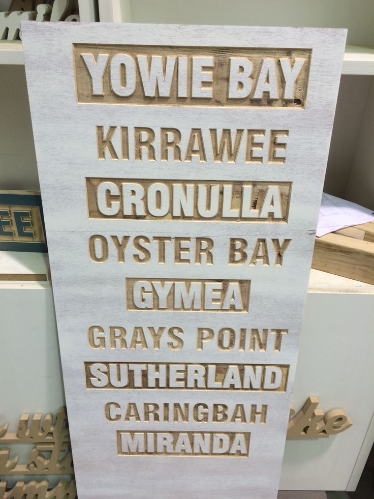 Sutherland shire routered plywood sign made by Concepts Created