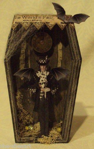 halloween decoration altered art fairy shadow box