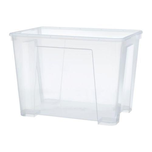 SAMLA Box  - IKEA – 22 Litre – W: 39 cm, D: 28 cm, H: 28 cm – $6.95