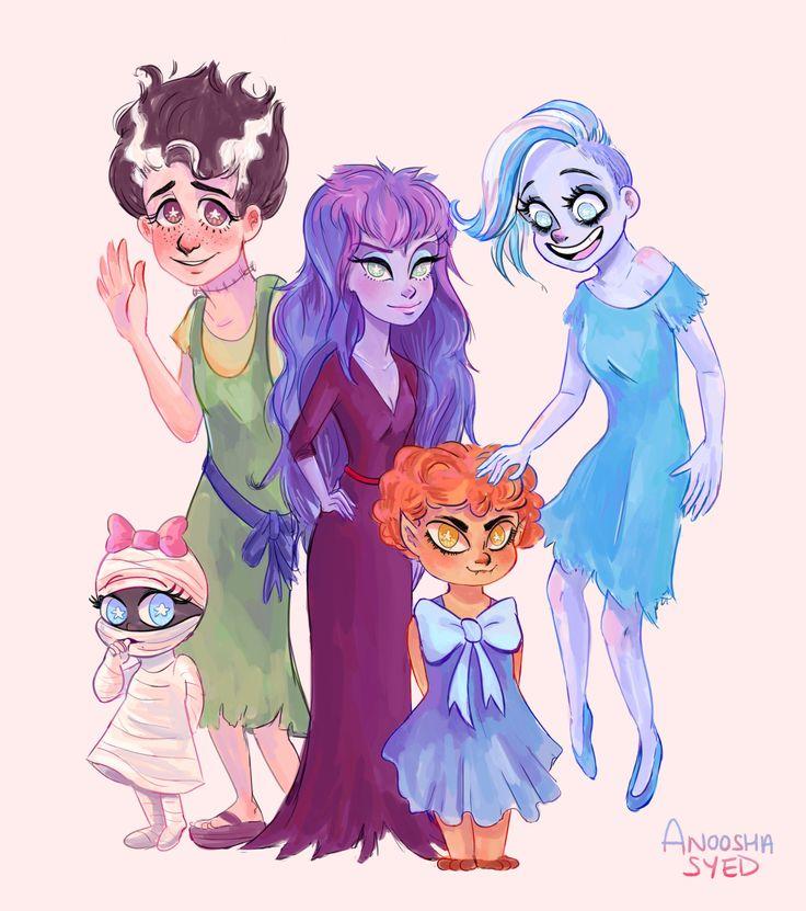 "foxville: "" spooky ghoul school girls (⊙‿⊙✿) "" Happy Halloween guys!"