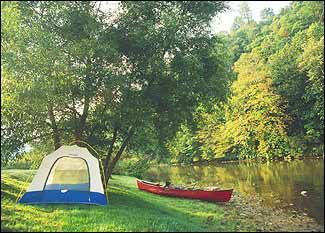 "Top Ten Tent Camping Locations In The Carolinas ""North and South Carolina offer varied and scenic ecosystems overlain with a rich human history. Both states stretch from the alluring Blue Ridge Mountains in the west—the highest, and some would argue, the most scenic range of the Appalachians—to the saltwater washed sands of the Atlantic coast in the east."""