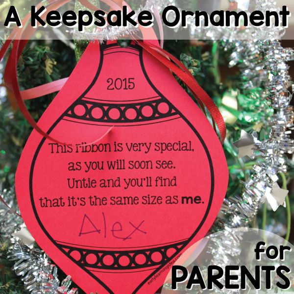A Simple Parent Gift: [Free Keepsake Ornament Printable]