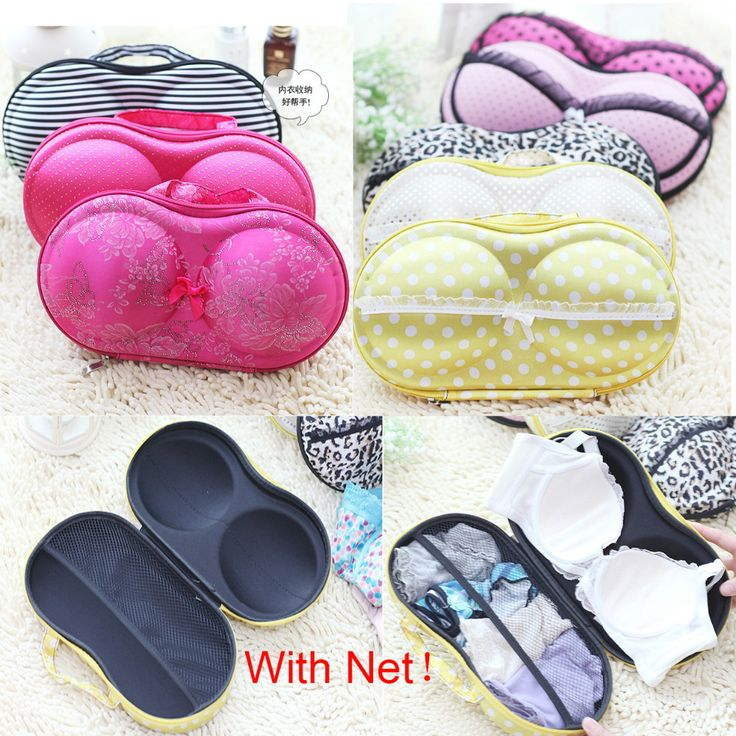 Cute Lovely Women Bra Storage Case Protect Underwear Lingerie Travel Bag Sexy Lady Box Portable Journey Organizer Candy Color #clothing,#shoes,#jewelry,#women,#men,#hats,#watches,#belts,#fashion,#style