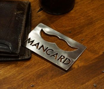 THE MAN CARD ~ Fits perfectly in your wallet to help prevent wear and bend on your credit cards. And the kicker? The mustache also serves as a bottle opener.