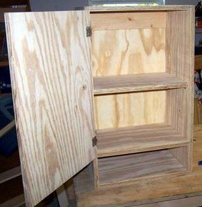 Build your own cabinets using these free easy woodworking plans and the Kreg jig..